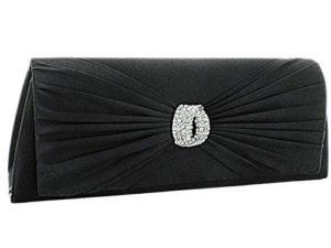 Comfort Plus Women's Silk Clutch Bag - Black