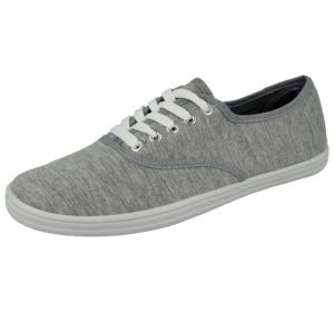Spirit Men's Breathable Canvas Low Top Lace Up Trainers