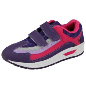 MX2 Girls Faux Leather Mesh Touch & Close Trainers