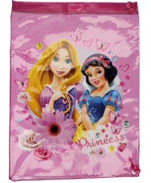 Disney Princess Pink Drawstring Trainer Bag