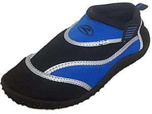 Galop Unisex Neoprene Silver Band Slip On Wet Shoes - Black Blue