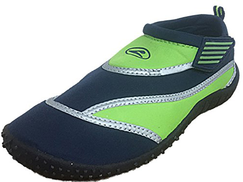 Galop Unisex Neoprene Silver Band Slip On Wet Shoes - Navy Green