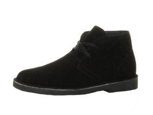 Foster Footwear Men's Soft Suede Lace Up Desert Boots - Black