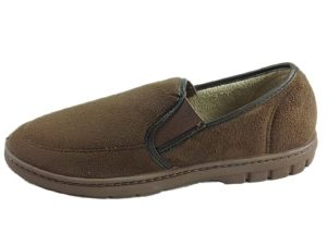 Dr Lightfoot Men's Faux Suede Fur Lined Slippers - Brown
