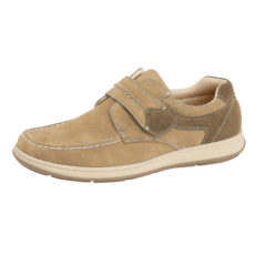 Charles Southwell Men's Faux Leather Touch & Close Shoes - Beige