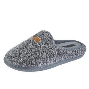 Jo & Joe Men's Faux Fur Mule Slip On Slippers - Grey