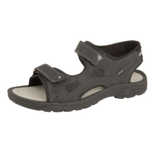 Urban Jacks Men's Faux Leather Touch & Close Gladiator Sandals - Black