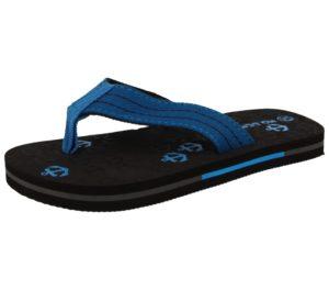 No Sense Women's Synthetic Anchor Print Toe Post Flip Flops - Blue