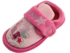 Peppa Pig Girls Fleece Touch & Close Slippers