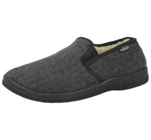 cadan fur lines mens slipper grey