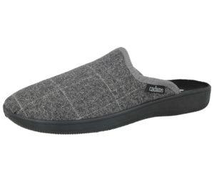 cadans mens mule slipper grey