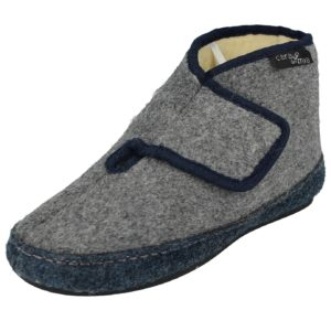 cara mia womens orthopaedic slipper boot grey