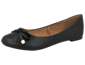 coconel womens faux leather slip on ballet flat black