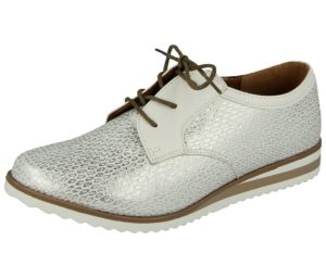 coconel womens faux leather lace up brogue