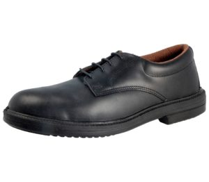 executive mens steel toe cap leather safety shoe