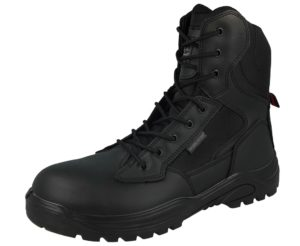 groundwork unisex leather steel toe cap combat boot