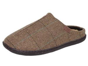 Joe & Joe Men's Brown Tweed Mule Slippers