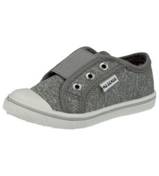 No Sense Girls Breathable Canvas Slip On Trainers - Grey