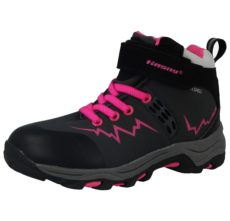 Softshell Unisex Touch & Close Ankle Winter Boots - Grey Fuchsia