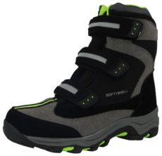 Softshell Unisex Triple Touch & Close Winter Boots - Black Green Grey