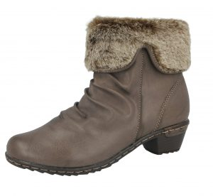 Antonio Dolfi Women's Faux Leather Fur Trim Ankle Boots