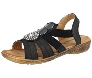 Antonio Dolfi Women's Faux Leather T Bar Medallion Sandals