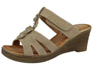 Antonio Dolfi Women's Faux Leather T Bar Sandals - Brown