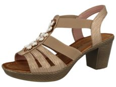 Antonio Dolfi Women's Faux Leather Block Heel Sandals