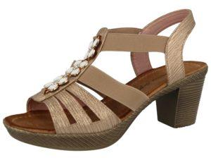 Antonio Dolfi Women's Faux Leather Block Heel Sandals