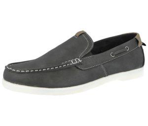 Stallion Men's Faux Suede Slip On Boat Shoes