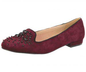 Cushion Walk Women's Burgundy Faux Suede Slip On Loafers - Burgundy