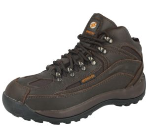 Siterover Women's Lace Up Steel Toe Cap Ankle Boots - Brown