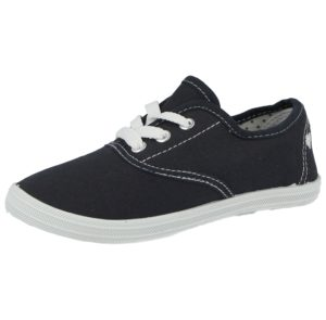 Fight Unisex Breathable Canvas Low Top Lace Up Trainers - navy