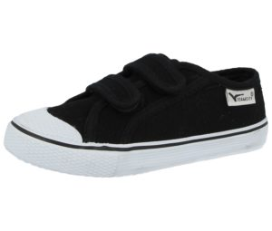 Sportskin Teamcity Unisex Breathable Canvas Touch & Close Trainers - Black