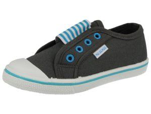 No Sense Unisex Breathable Canvas Touch & Close Trainers - Blue Grey