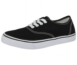 Hot Item Women's Canvas Low Top Trainers - Black