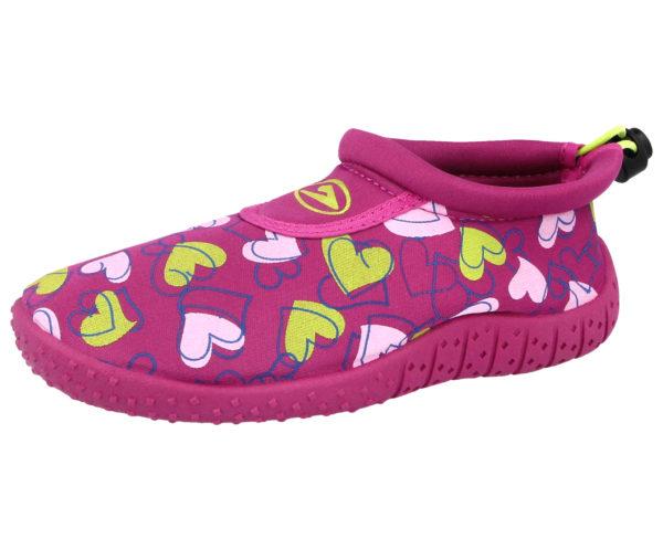 Galop Unisex Neoprene Hearts Shark Wet Shoes - Pink