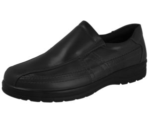 Dr Lightfoot Men's Faux Leather Touch & Close Slip On Loafers - Black (Slip On)
