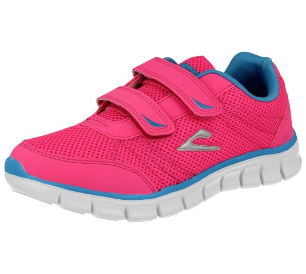 Galop Kids & Adult's Breathable Canvas Touch & Close Trainers - Pink