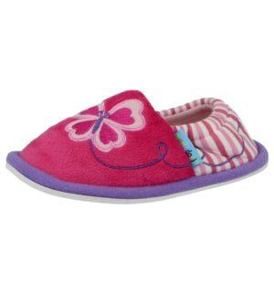 Maxi & Doni Girls Fleecy Slip On Slipper Shoes - Fuchsia