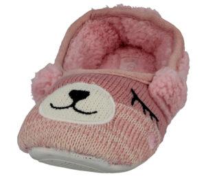 Cara Mia Women's Novelty Bear Slip On Mule Slippers - Pink