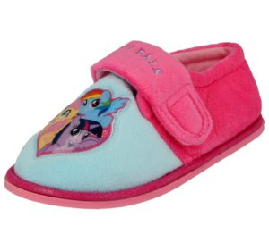 My Little Pony Girls Fleece Touch & Close Slippers