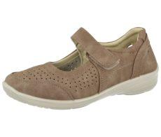 Antonio Dolfi Women's Faux Leather Mary Jane Shoes - Dark Taupe