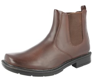 Groundwork Men's Faux Leather Pull On Ankle Boots - Brown
