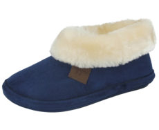 Jo & Joe Women's Faux Suede Pull On Slipper Boot s- Blue