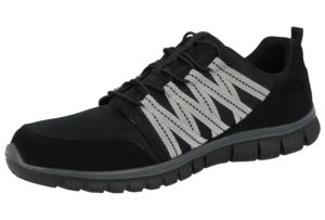Cushion Walk Men's Faux Suede Slip On Trainers - Black