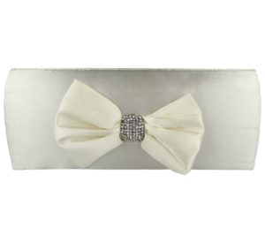 Occasions Footwear Women's Diamante Bow Clutch Bag
