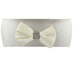 Occasions Footwear Women's Diamante Bow Clutch Bag