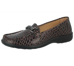 Cushion Walk Women's Faux Leather Loafers - Brown