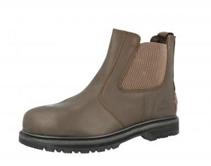Groundwork Men's Leather Steel Toe Cap Safety Boots - Brown